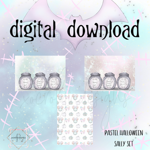 DIGITAL: Pastel Halloween Sally Set (PW Rings)