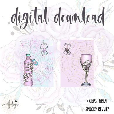 DIGITAL: The Corpse Bride Spooky Bevvies (A6 Rings)