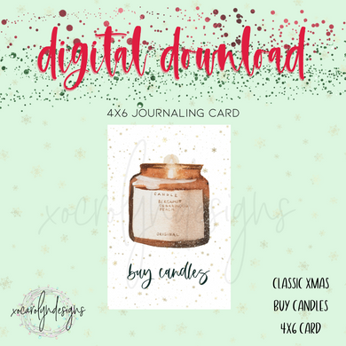 DIGITAL: Classic Christmas Buy Candles