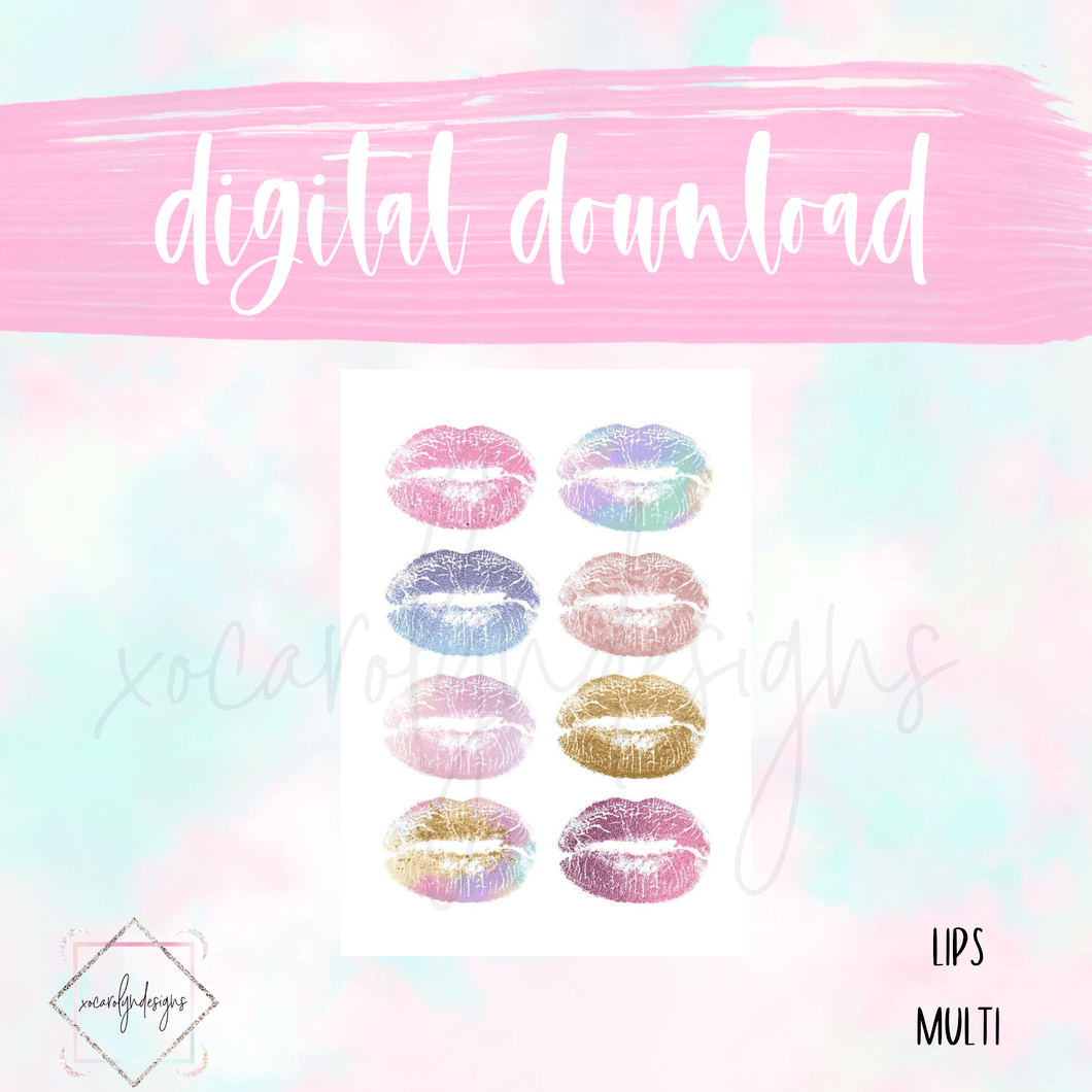 DIGITAL: Lips Multi (A5 Wide Rings)