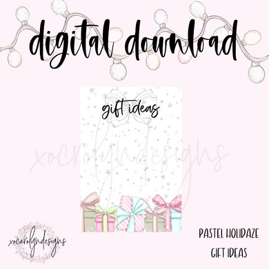 DIGITAL: Pastel Holidaze Gift Ideas (A5 Wide Rings)