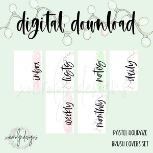 DIGITAL: Pastel Holidaze Brush Covers (Personal Rings)