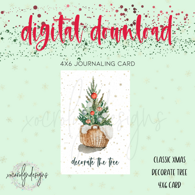 DIGITAL: Classic Christmas Decorate Tree