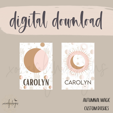 DIGITAL: Autumnal Magic Custom Dashes (ALL SIZES)