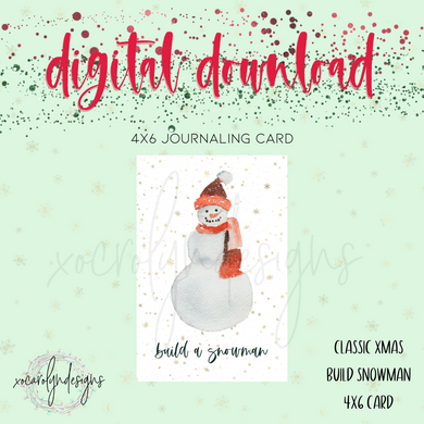 DIGITAL: Classic Christmas Snowman