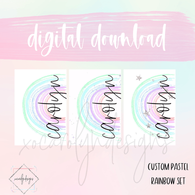 DIGITAL: Custom Pastel Rainbow (ALL RINGS)