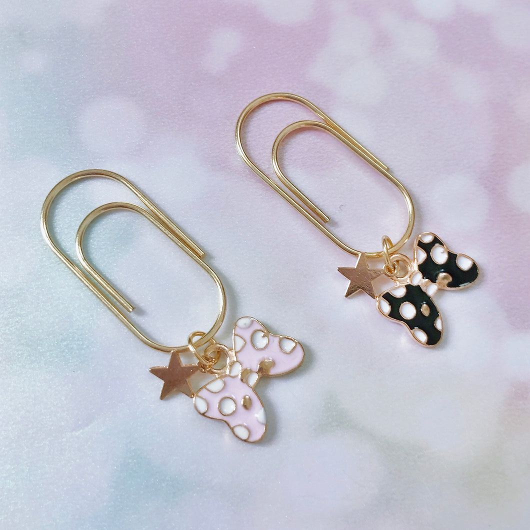 DANGLES: Chubby Clip Polka Dot Mouse Bow