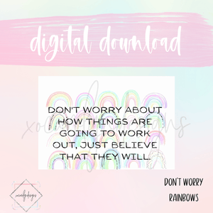 DIGITAL: Don't Worry Rainbows (B6 Rings)