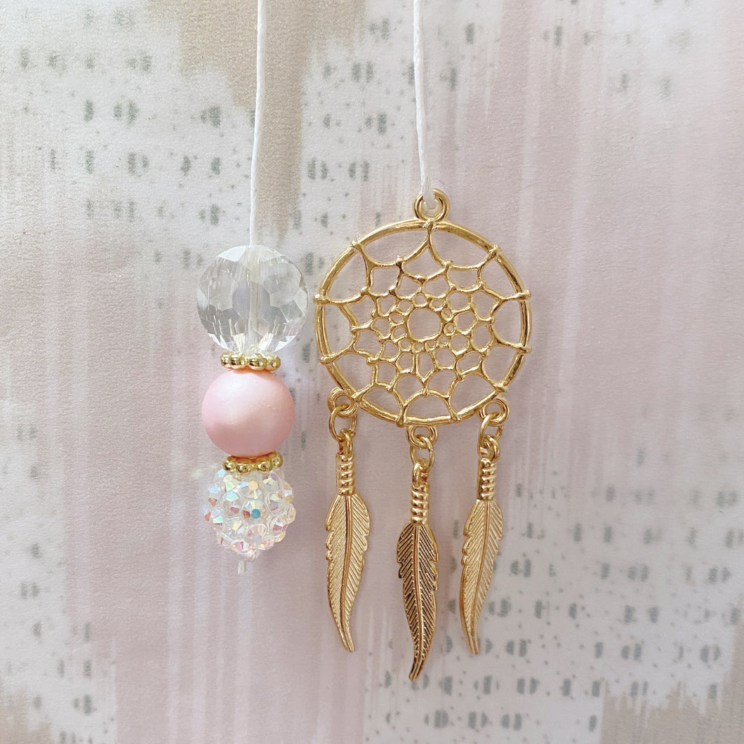 FREE PEOPLE: Gold Dreamcatcher