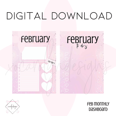 DIGITAL: FEBRUARY Dash (A6 Rings)