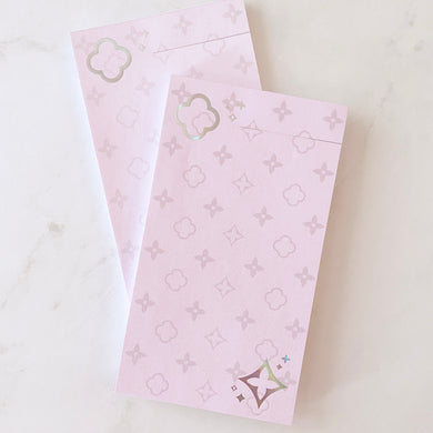 LUCKY LUXE: Pink/Holo Foiled Notepad / Inserts (Personal)