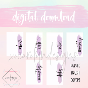 DIGITAL: Purple Brush Covers Set (Classic HP)