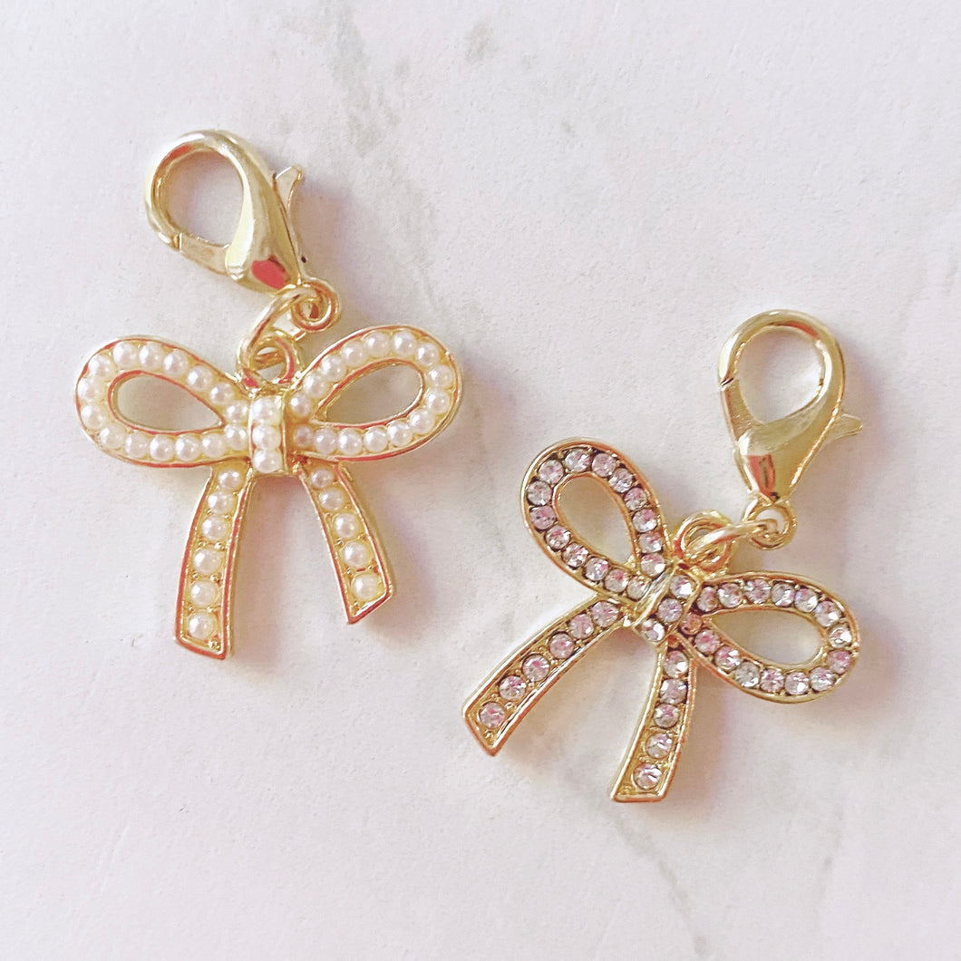CLASP DANGLES: Gold Bow
