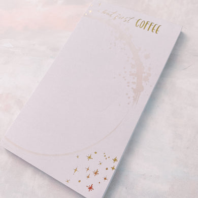 BUT FIRST COFFEE: Gold Foiled Notepad / Inserts (Personal)