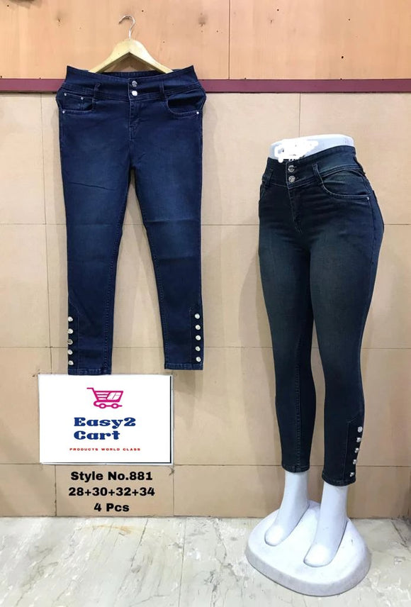 Low Waist High Ankle Premium Jeans 881 - Easy2cart.com