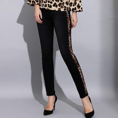 Leopard print stretch jeans for women - Easy2cart.com