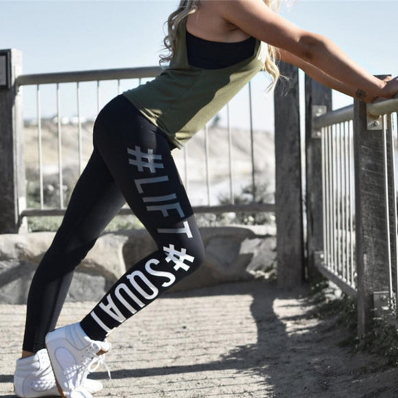 3-d hashtag printed slim leggings - Easy2cart.com