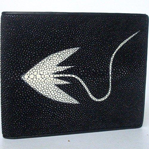 100% BEAUTIFUL GENUINE BLACK & WHITE STINGRAY LEATHER WALLET STANDARD 3.5 x 4.5 INCHES