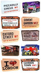 (80+ Designs) Bus Pass Wallet Credit Travel Rail Ticket Card Holder for Oyster Business ID Card (100x Iconic London Wallets (10 of Each))