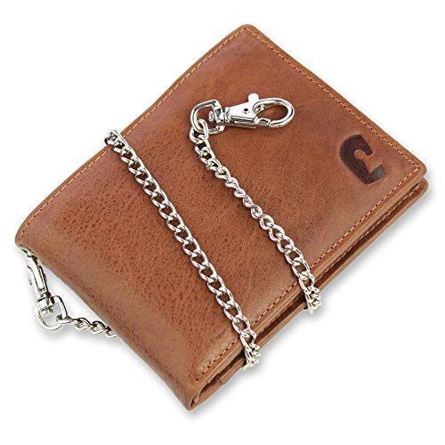 Safekeepers Leather Men Wallet with Victorinox Chain