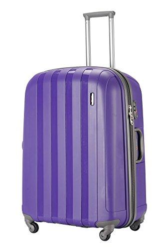"'Virtually Indestructible Luggage' - 56cm (22"") Purple Hard Shell Lightweight Trolley Suitcase"