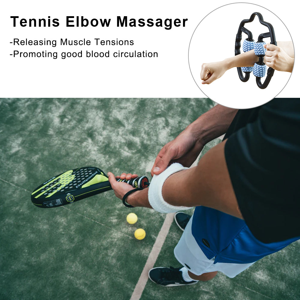 Tennis Elbow Trigger Point Massager, U-Shape Muscle Roller Massage Stick - StrongTek