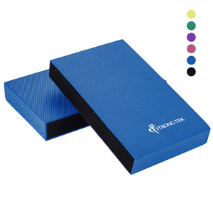 StrongTek Balance Pad, Balancing Foam Pad | Large 2 in 1 Non-Slip Yoga Cushion - StrongTek