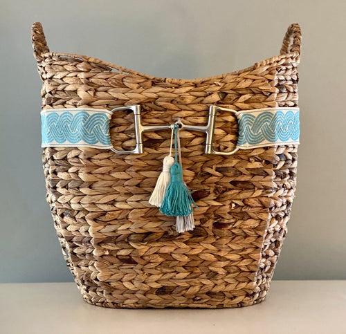 Snaffle Bit Ribbon Basket