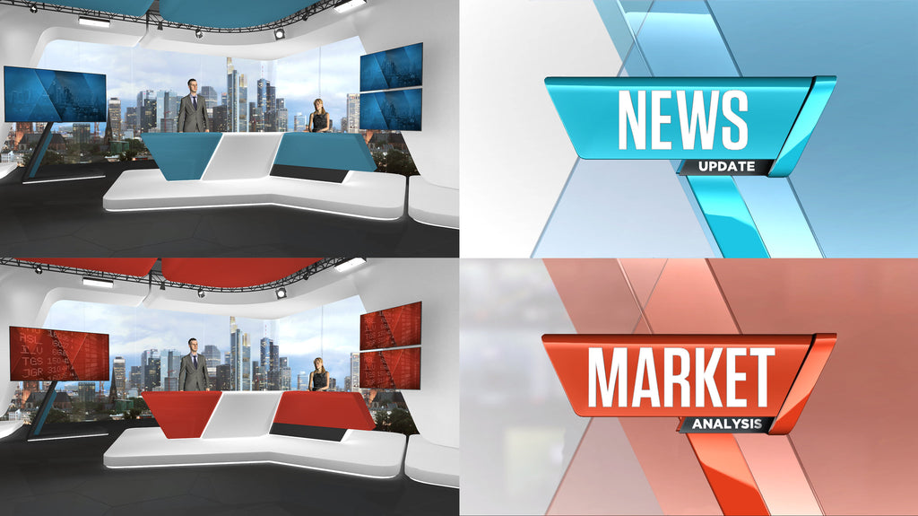 Euro News and Business - Graphics & VR Set Bundle (XPression)