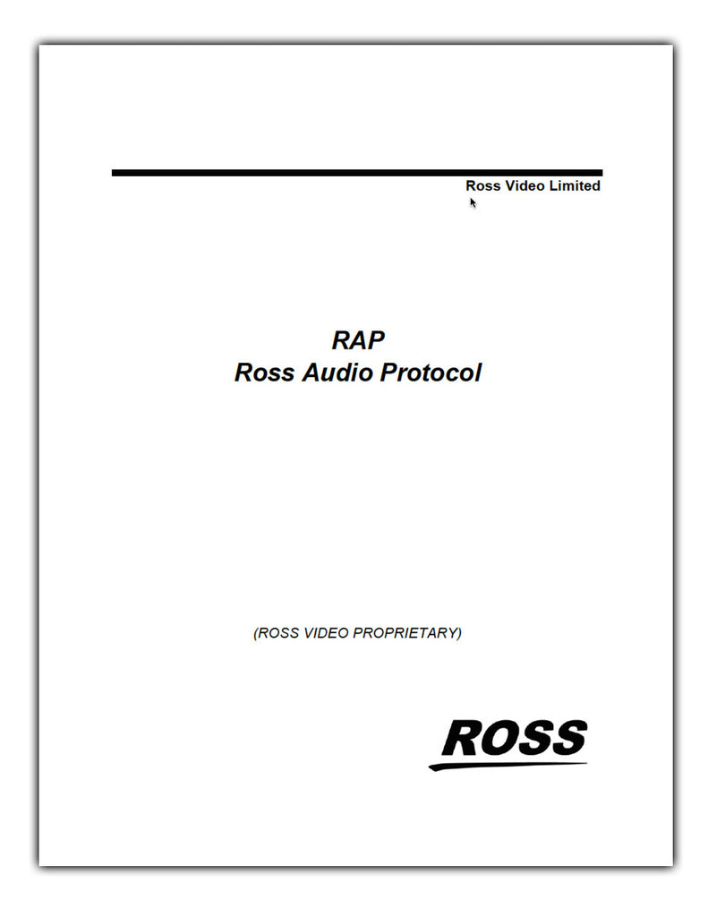 RAP - Ross Audio Protocol