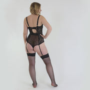 Center Of Attention Bodysuit in Black
