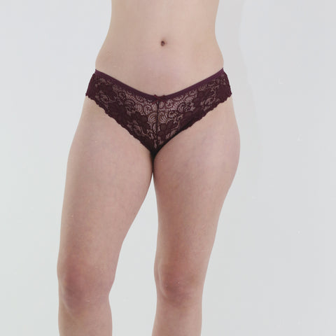 Bonbon Underwear in Wine
