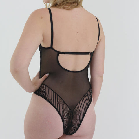 Hollywood Hills Bodysuit in Black