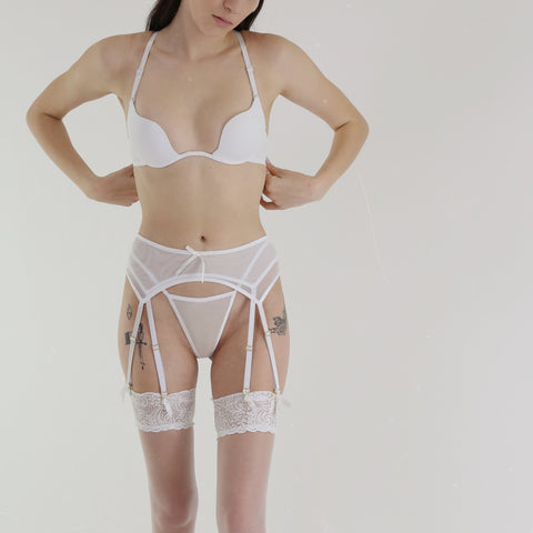 Intrigue Me Suspender in White