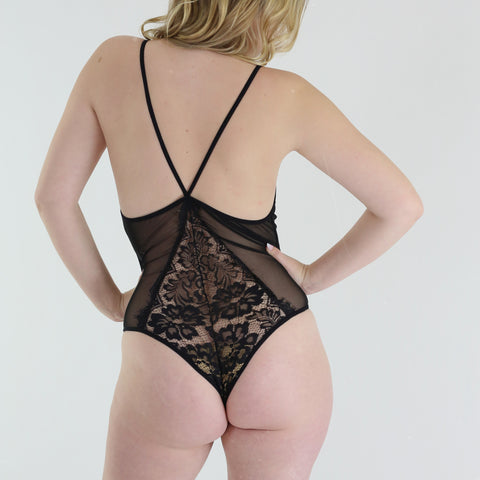 Lacey Bodysuit in Black