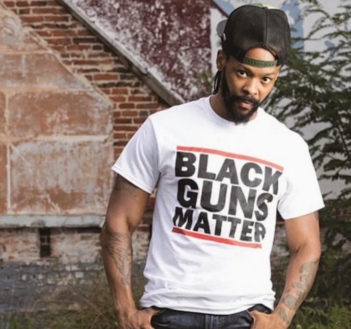 Black Guns Matter White Tee