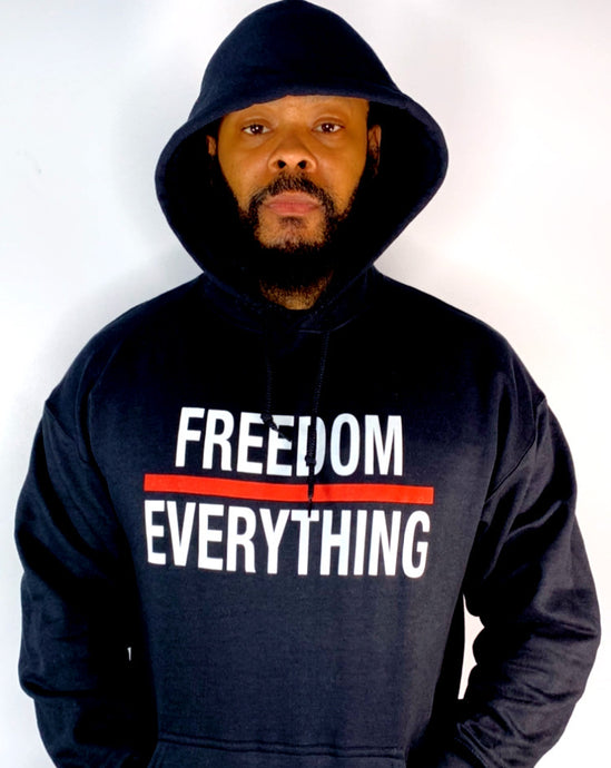 Freedom Over Everything Black Hoodie