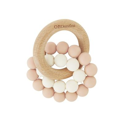 Blush Pink | Organic Beechwood Silicone Toy/Teether