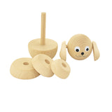 Wooden Dog Stacking Puzzle - Blair