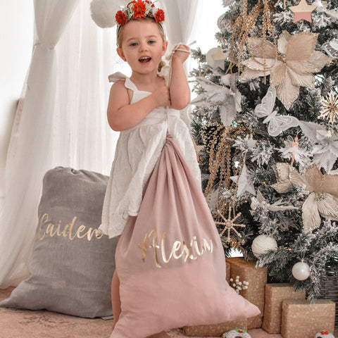 Linen Santa Sack Personalised