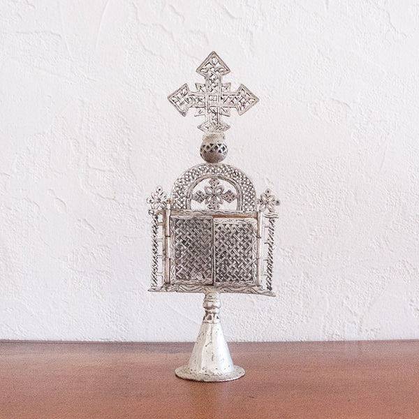 Vintage Silver Coptic Cross- Small