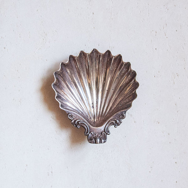 Vintage Silver Shell Tray
