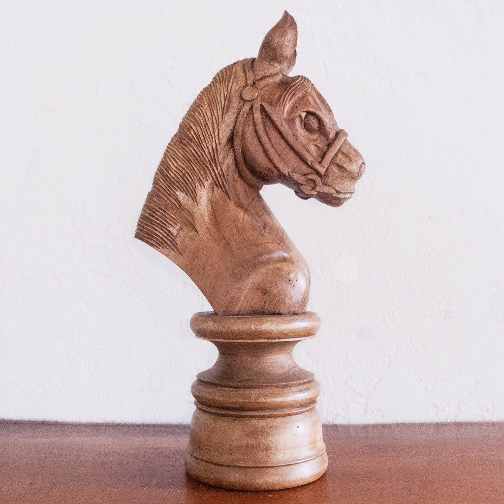 Wooden Knight Chessman