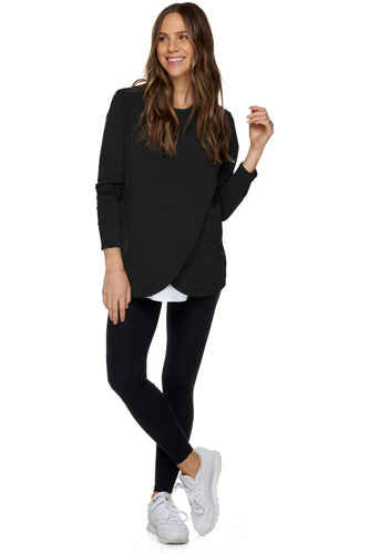 You Remind Me Maternity & Nursing Sweater - Black