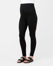 Load image into Gallery viewer, Over Tummy Maternity Black Legging