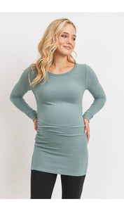 Long Sleeve Teal Maternity Tunic