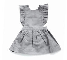 Load image into Gallery viewer, Pinafore Baby Dress in Grey or Pink