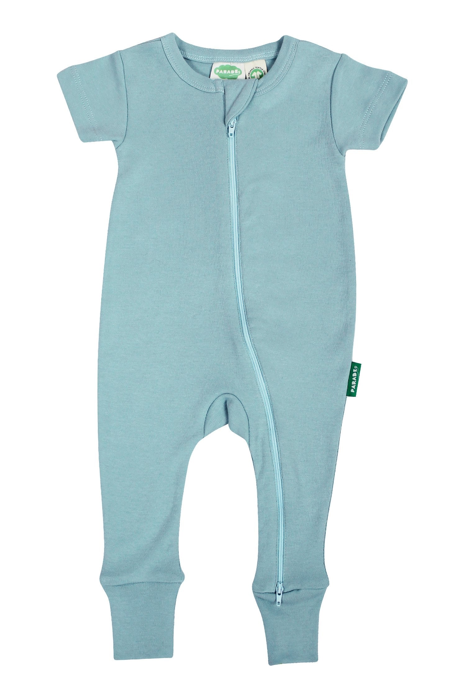 2 Way Zip Baby Romper - Sky Blue