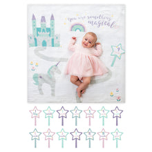Load image into Gallery viewer, Milestone Muslin Blanket & Card Set - Something Magical