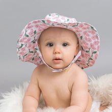 Load image into Gallery viewer, Blush Pink Poppy Sunhat UPF 25+